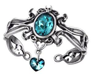 【送料無料】イタリアン ブレスレット クリスタルスカルカフthe dogaressas last love decorativo bracciale acqua cuore di cristallo teschio