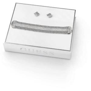 【送料無料】イタリアン ブレスレット カフイヤリングボックスステンレススチールセットbracciale orecchini guess midnight glam ubs84042 box set acciaio inossidabile