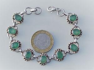 【送料無料】イタリアン ブレスレット ブレスレットアルジェントエムロードnuova inserzionebeau bracelet en argent 9251000 avec emeraude longueur 19,5cm