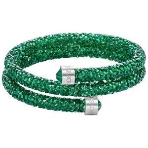【送料無料】イタリアン ブレスレット スワロフスキードーブルカラーグリーンpulsera swarovski crystaldust doble color verde brillante 5292450 5273642 [tama