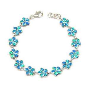 【送料無料】イタリアン ブレスレット オパールハワイアンプルメリアブレスレットフィオーレintarsio opale 10mm hawaiano plumeria bracciale fiore 7