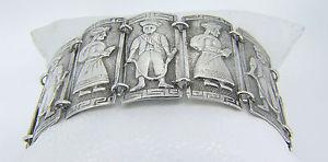 【送料無料】イタリアン ブレスレット グラムシルバーカフ544 grammi 900 argento 191cm industria peruana figurale bracciale l61