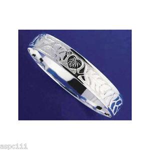 【送料無料】イタリアン ブレスレット シルバーハワイアンメタルブレスレットハイビスカスアンスリウムマイレエッジargento 925 hawaiano bracciale rigido ibisco anthurium maile bordi lisci 18mm