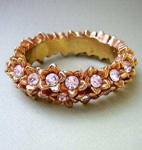 【送料無料】イタリアン ブレスレット ブレスレット1015  alexis lahellec bracelet rigide fleurettes resine doree et strass