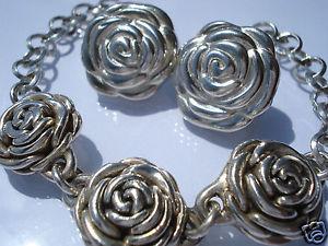 【送料無料】イタリアン ブレスレット アルジェントブレスレットbelle 12 parure bouton de rose en argentbraceletboucles doreilles