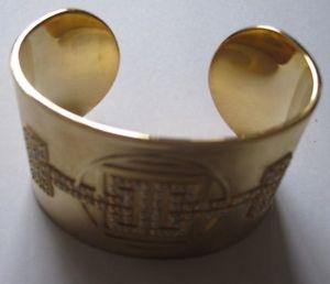 【送料無料】イタリアン ブレスレット ブランドゴールドスワロフスキークリスタルカフブレスレットコスチュームジュエリーnuovo di zecca oro swarovski crystal bracciale braccialetto bigiotteria