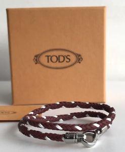 【送料無料】イタリアン ブレスレット tods in pelle intrecciata braccialetto wrap