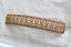 【送料無料】イタリアン ブレスレット グロブレスレットプラークgros bracelet joliment travaill en plaque or lamin l 19 ref 8