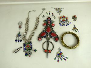 【送料無料】イタリアン ブレスレット ブレスレットフィブラコリアーベルベルlot de bijoux bracelet fibule collier kabyle berbere benni yeni ancien