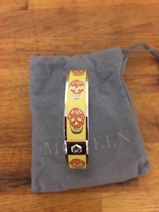 イタリアン ブレスレット アレキサンダーマックイーンイエロースカルブレスレットalexander mcqueen giallo teschio braccialetto con motivo