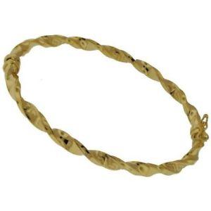 【送料無料】イタリアン ブレスレット イエローゴールドブレスレットギリシャキー9ct oro giallo braccialetto intrecciato greco chiave