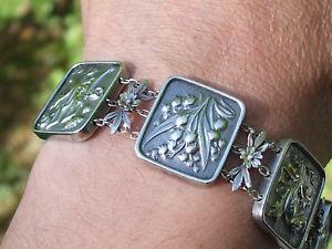 【送料無料】イタリアン ブレスレット ブレスレットアールヌーボーアルジェントtres beau bracelet ancien art nouveau en argent sign f kauffer lg 18,5cm