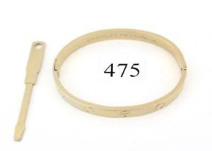 【送料無料】イタリアン ブレスレット アルドチャールズゴールドカフブレスレット1970 aldo cipullo charles revson oro electroplate love bracciale bracelet