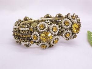 【送料無料】イタリアン ブレスレット ブレスレットコスチュームジュエリーヴィンテージhollycraft bracciale costume jewelry firmato datato 1954 vintage
