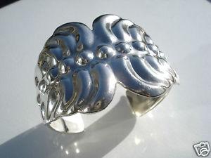 【送料無料】イタリアン ブレスレット グランドブレスレットマンシェットビンテージアルジェントマッシフグラムgrand bracelet manchette vintage en argent massif63,8 gr
