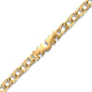 【送料無料】イタリアン ブレスレット イエローゴールドブレスレット9ct oro giallo bracciale bordo mamma