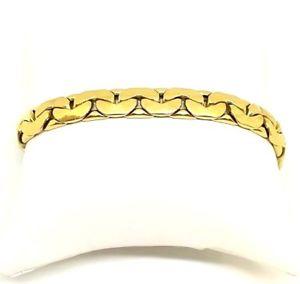 【送料無料】イタリアン ブレスレット イエローゴールドマンktカフカフブレスレットbracciale bracciali braccialetto in oro giallo da donna uomo 18 kt 750 usato
