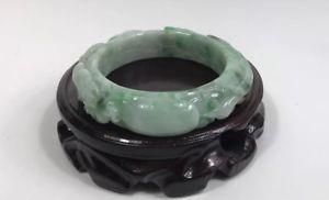 【送料無料】イタリアン ブレスレット ブレスレットスタンドgiada naturale grado a luce verde jadeite intagliato braccialetto 58mm*14mn senza stand