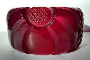 【送料無料】イタリアン ブレスレット ラルゴビンテージワインレッドベークライトlargo vintage traslucido rosso vino bachelite fonde intagliato fiori