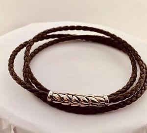 【送料無料】メンズブレスレット ブラウン8デヴィッドyurmanシェブロン3ラップブレスレットdavid yurman chevron triplewrap bracelet in brown 8inch
