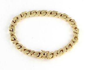 【送料無料】メンズブレスレット ビンテージソリッドゴールドフラットリンクチェーンブレスレットgchiampesan vintage solid 9ct gold flat curb link chain bracelet ,374g