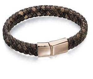 【送料無料】メンズブレスレット フレッドベネットメンズブラウンレザーローズゴールドクラスプブレスレットfred bennett mens brown leather with rose gold plated clasp bracelet b4685