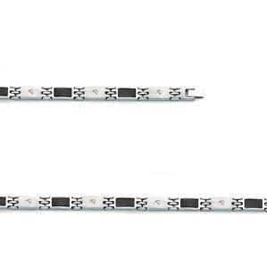 【送料無料】メンズブレスレット ステンレススチールブレスレットカーボンmagnificent stainless steel bracelet amp; carbon for men
