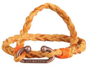 【送料無料】メンズブレスレット ヒューゴボスオレンジイタリアhugo boss orange mens leather bracelet zinc closure brown made in italy