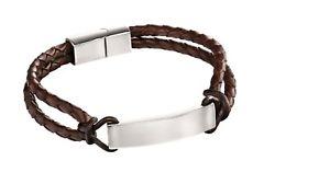 【送料無料】メンズブレスレット フレッドベネットブレスレットスチールレザーブレスレットロープfred bennett bracelet steel and leather id bracelet with rope detail b5122