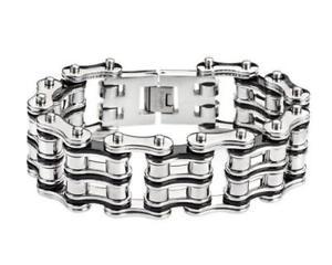 【送料無料】メンズブレスレット mensチェーンブレスレット1インチmens biker chain bracelet baddest on the planet 1 inch