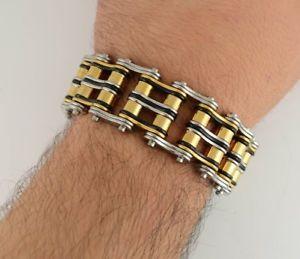 【送料無料】メンズブレスレット 1 ヘントbaddassステンレスチェーンブレスレット1 wide gents baddass stainless steel chain biker bracelet