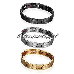 【送料無料】メンズブレスレット リンクキットステンレスmensパワーブレスレットカフスstainless steel magnetic mens power element bracelet cuff with link removal kit