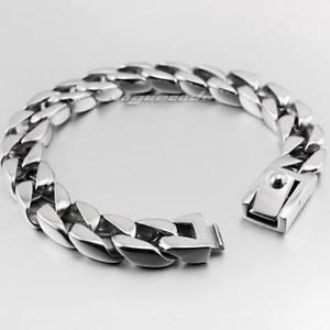 【送料無料】メンズブレスレット ステンレスメンズバイカーリンクチェーンパンクブレスレット12 lengths 316l stainless steel mens biker link chain punk bracelet 5c010c