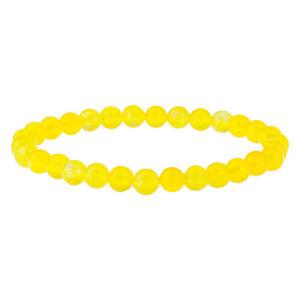 【送料無料】メンズブレスレット ビーズストーン6mmブレスレットbeaded gemstone mens bracelet with yellow agate 6mm round stone beads
