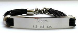 【送料無料】メンズブレスレット mensブラック3ボックスクリスマスクリスマスブレスレット