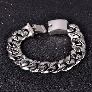 【送料無料】メンズブレスレット ステンレススチールリンクバイカーチェーンブレスレットmens 316l stainless steel curb link snake carved biker chain bracelet 92
