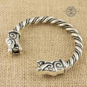 【送料無料】メンズブレスレット オオカミブレスレットシルバートーンアームリングヴァイキングviking odins wolves bracelet silver tone norse arm ring