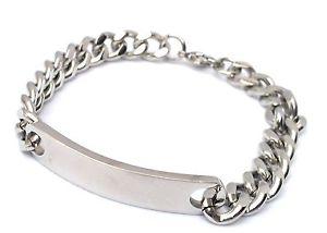 【送料無料】メンズブレスレット mens stainless steel identity bracelet best friend engravedpersonalised boxedmens stainless steel identity bracelet best f
