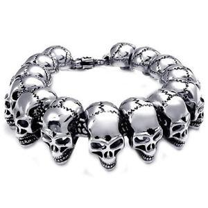 【送料無料】メンズブレスレット パーソナライズステンレススティールブレスレットメンズステンレススチールスカルブレスレットpersonalized stainless steel bracelet mens stainless steel skull bracelet k7r2
