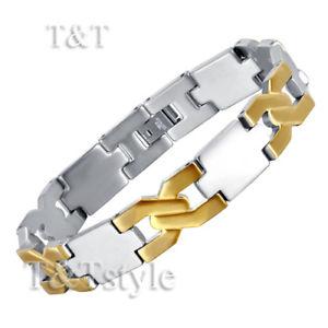 【送料無料】メンズブレスレット ユニークステンレススチールブレスレットunique tamp;t 316l stainless steel bracelet bbr82