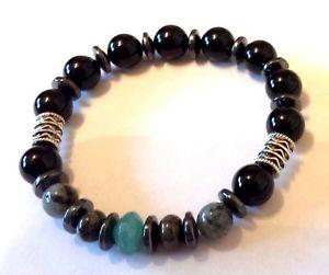 【送料無料】メンズブレスレット ブレスレットintense healing gemstone bracelet aventurine bloodstone labradorite mens women