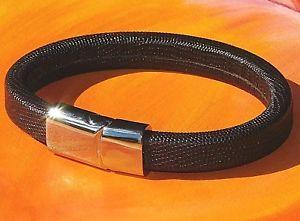 【送料無料】メンズブレスレット メンズレディースブラウンレザーステンレスライムベイアートスチールブレスレットmens ladies 10mm brown leather amp; stainless steel bracelet by lyme bay art