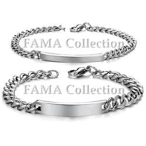 Stylish FAMA Stainless Steel Black IP Bracelet with Greek Key Plate Links