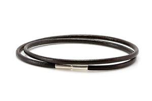 【送料無料】メンズブレスレット メンズレディースギリシャシルバーツイストmensladies 3mm real greek leather braceletsterling silver twist claspbrown