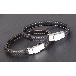 【送料無料】メンズブレスレット brand and boxed mens equilibrium brown genuinewoven leather bracelet 4754brand and boxed mens equilibrium brown genuine
