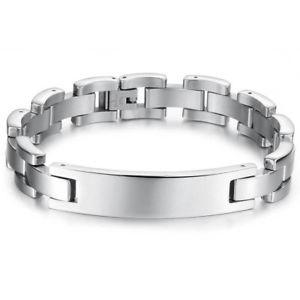 【送料無料】メンズブレスレット ステンレスidブレスレットmens stainless steel id bracelet