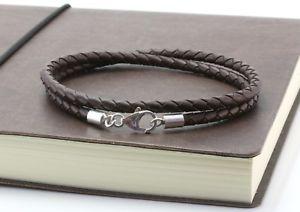 【送料無料】メンズブレスレット メンズブレスレットシルバーダークブラウンmens bracelet4mm braided rubbersterling silver claspdouble wrapped dark brown