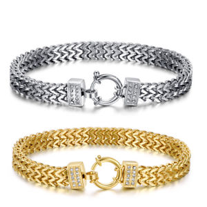 【送料無料】メンズブレスレット ステンレススチールブレスレットクリップluxury tt wheat double row stainless steel bracelet with clip bbr233