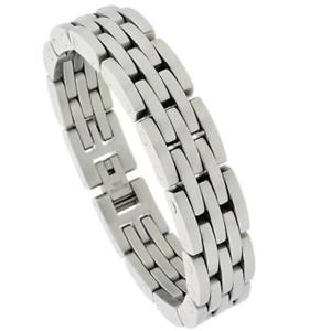 【送料無料】メンズブレスレット メンズステンレススチールヘビーバーリンクブレスレットmens stainless steel heavy bar links bracelet