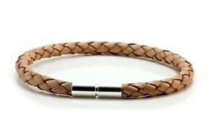 【送料無料】メンズブレスレット メンズレディースシルバーツイストタンmensladies 5mm braided leather braceletsterling silver twist claspnatural tan
